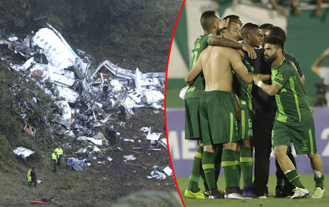 V Kolumbii spadlo letadlo s brazilskými fotbalisty z klubu Chapecoense.