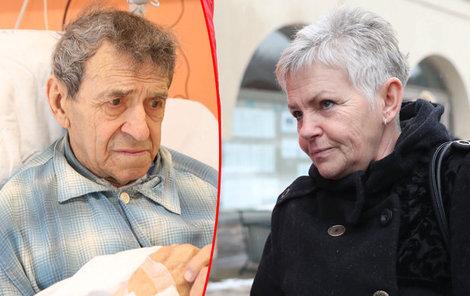 Rehabilitační sestra se o něho starala až do smrti.