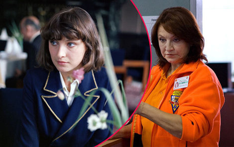 Zlata Adamovská v seriálu Sanitka v roce 1984 a v seriálu Sanitka 2 v roce 2013.