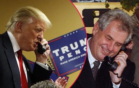 Donald Trump volá do Prahy. Miloš Zeman telefon zvedl.