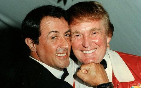 Trump s kamarádem Stallonem v roce 1997.