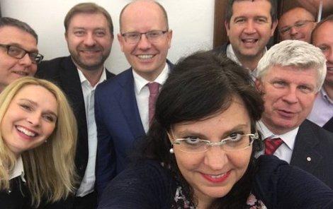 Děsivé selfie z ČSSD.