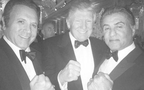 Donald Trump a Sylvester Stallone