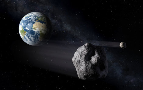 Asteroid minul Zemi jen velmi těsně!