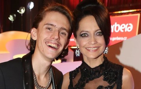 Lucie Bílá se synem Filipem.
