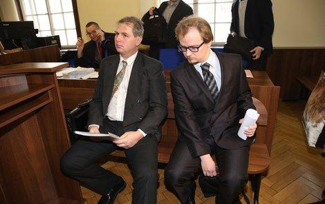 Obžalovaný primář Václav Hulínský (vlevo) a lékař Michal Križanovič.