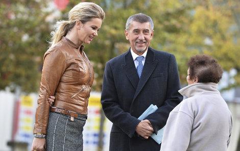 Andrej Babiš s manželkou.