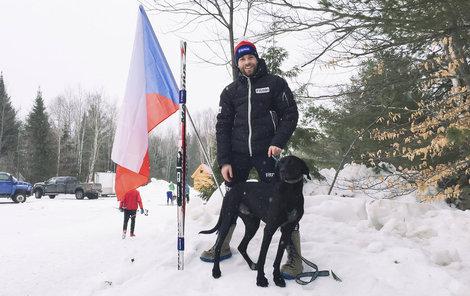Michal Ženíšek s Kvapem vybojovali také bronz ve skijöringu s jedním psem.