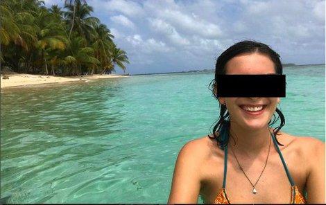 Poslední snímek Catherine z panamského ráje.