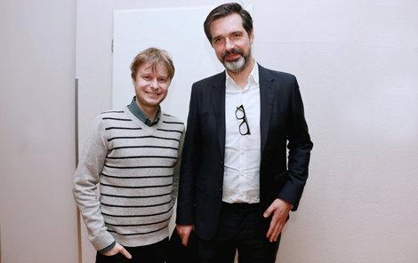 Ivo Dostál (vlevo) s profesorem Robertem Lischke, který vedl tým operatérů.