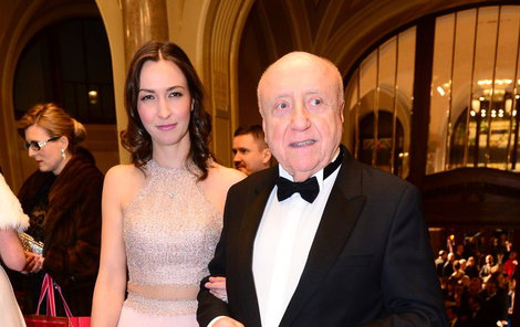 Felix Slováček s milenkou Lucií Gelemovou