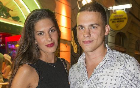 Modelka se svým přítelem Filipem.