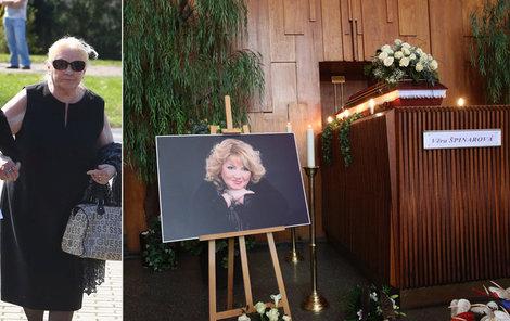 Poslední rozloučení s Věrou Špinarovou: Matka to vzládla skvěle