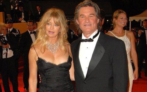 Kurt Russell a Goldie Hawn mají hvězdy na chodníku slávy.