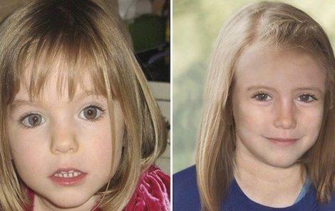 Maddie jako čtyřletá- Počítačová podoba Maddie, jak by mohla vypadat v 9 letech.