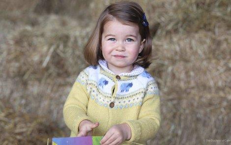 "Fotku princezničky ""cvakla"" její maminka Kate."