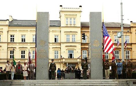 Památník Díky Ameriko v Plzni...