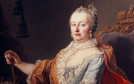 Česká královna Marie Terezie.