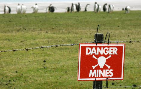Miny chrání tučňáky před turisty.