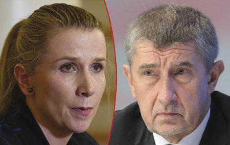 Kateřina Valachová a Andrej Babiš.