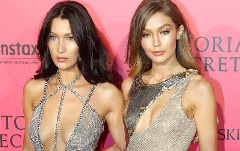 Topmodelky Bella a Gigi Hadid.