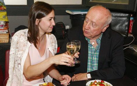 Felix Slováček slavil narozeniny s milenkou Lucií Gelemovou.