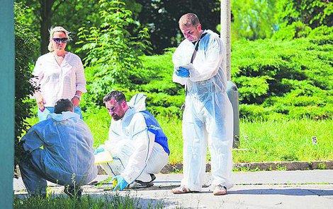Místo a okolí, kde Roman Š. zemřel, včera několik hodin ohledávali policisté.