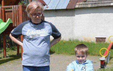 Jana Kymlová se synem Tadeášem.