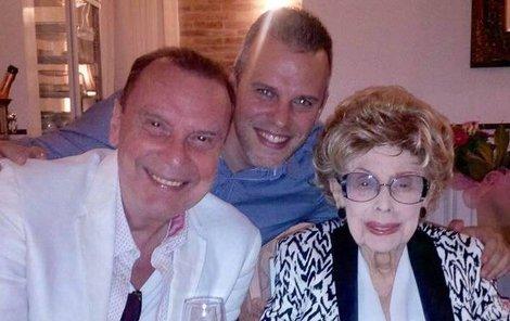 Štefan v Košicích s maminkou a synovcem