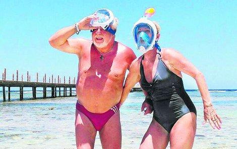 Milan Drobný (72) si se snoubenkou Danou Polcaro (60) dopřál parádní předsvatební cestu.