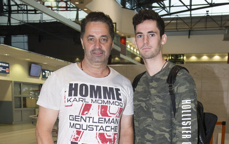 Martin Dejdar se synem Matějem.
