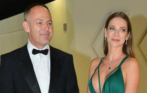 Andrea s manželem Danielem Volopichem. Nyní jim moc do smíchu není.