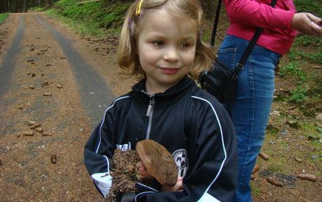 Izabelka našla na Šumavě hřib kovář.