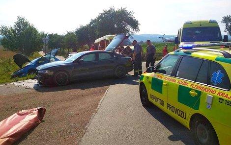 Tři zranění ze dvou aut