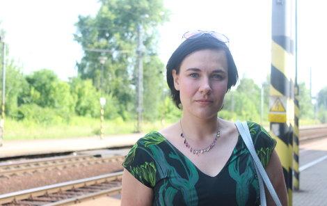 Andrea Hoffmannová byla ve vlaku při obou železničních nehodách ve Studénce.