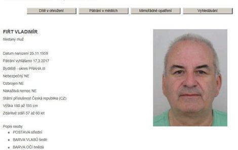 Policisté v Praze pátrají po Vladimíru Fiřtovi.