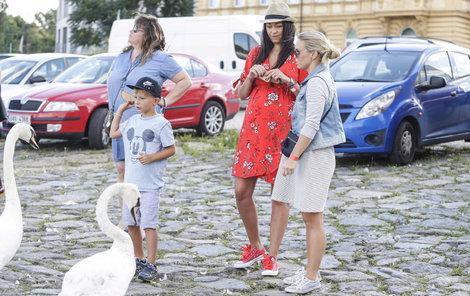 Agáta se snažila svého syna od ptáků držet stranou.