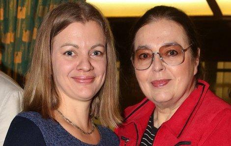 Bára Srncová s maminkou Emmou
