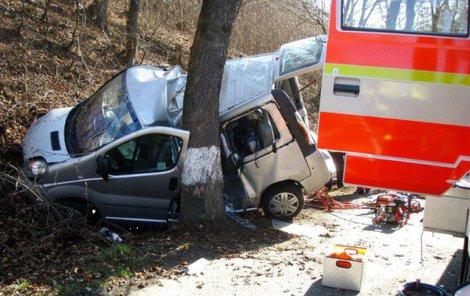 Při tragické nehodě narazil vůz do stromu.