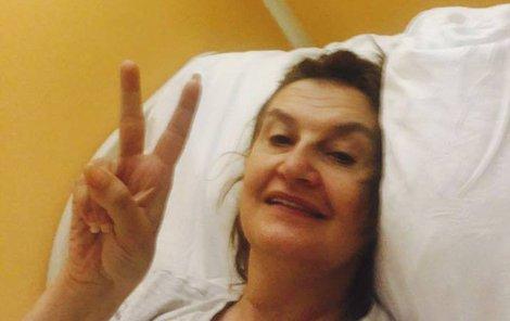 Eva Holubová po operaci.
