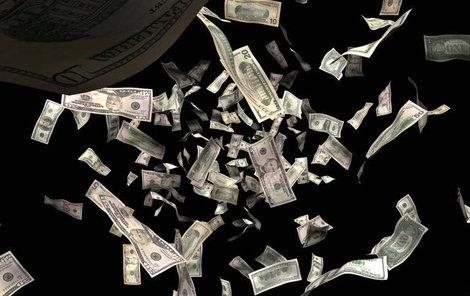 Peníze pršely z nebe!