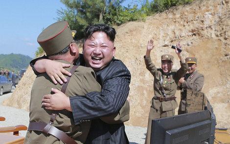 Kim má evidentně radost