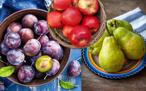 Podzim je ideální doba ke konzumaci jablek, hrušek a švestek.