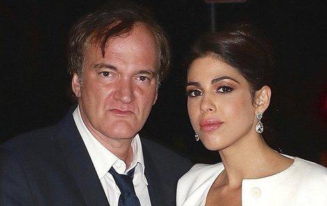 Tarantino a jeho nastávající, izraelská herečka, modelka a zpěvačka Daniella Pick (33).