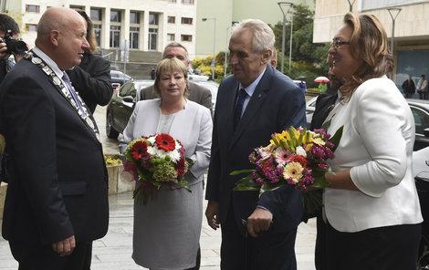 O svém zdraví hovořil včera během třídenní návštěvy Ústeckého kraje prezident Miloš Zeman (73).