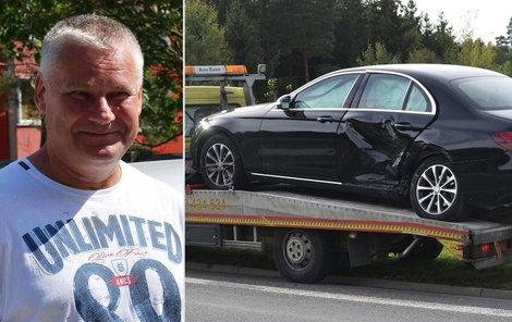 Jiří Kajínek měl ve středu dopravní nehodu