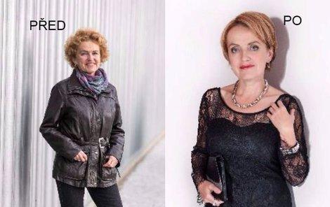 Paní Olga před a po proměně