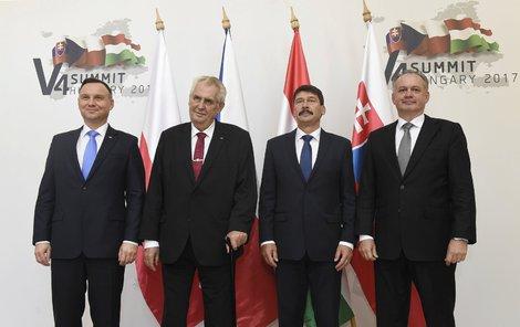 V Maďarsku se sešly hlavy států visegrádské čtyřky, které se shodly na tom, že hrozí šíření radikálního islámu v Evropě.