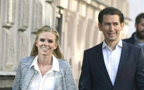 Sebastian Kurz s partnerkou Susanne Thier.