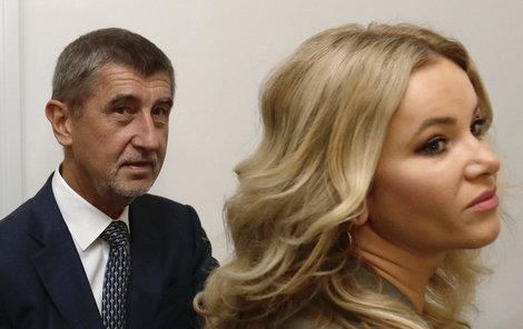 Monika Babišová s manželem.